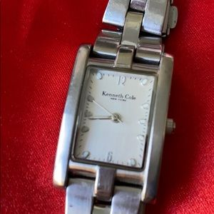 Silver Kenneth Cole rectangle watch
